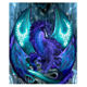 New cool purple dragon diy diamond painting indoor living room hanging picture frame