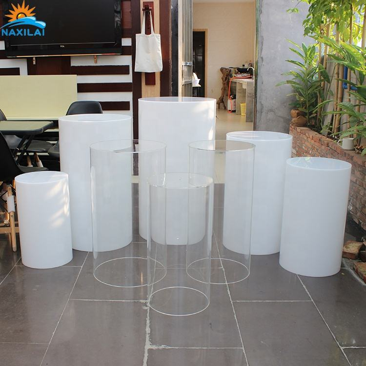 NAXILAI Pillar Pedestal White Display Plinths Wedding Acrylic Plinth Cylinder Plinth The High Quality Goods