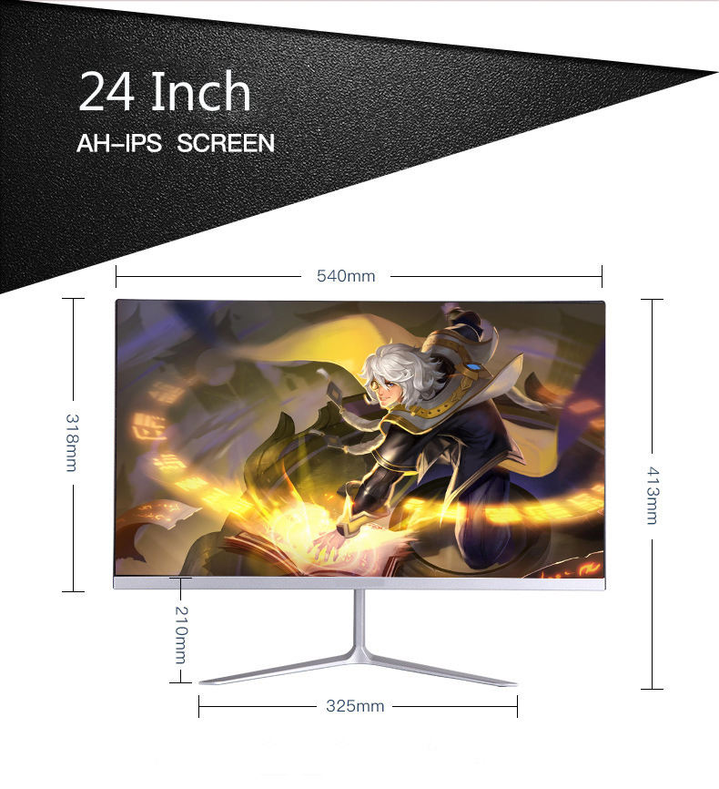 High Quality 1MS Flat 1080P Monitor VA IPS Screen 24Inch Gaming Pc Monitor For Desktop