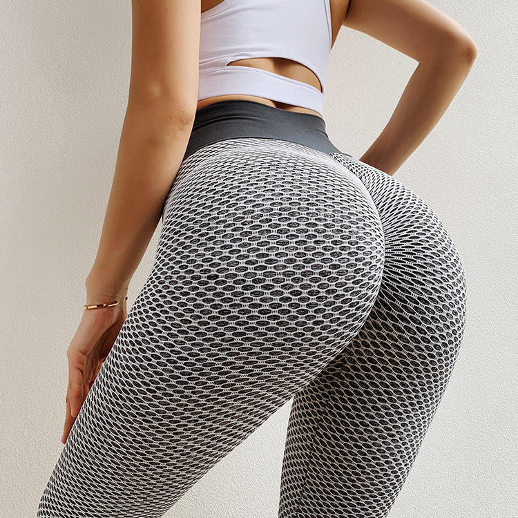2020 Sexy Net Mesh Fitness Yoga Pants Ladies High Waist Seamless Leggings Butt-Lift Leggins Women