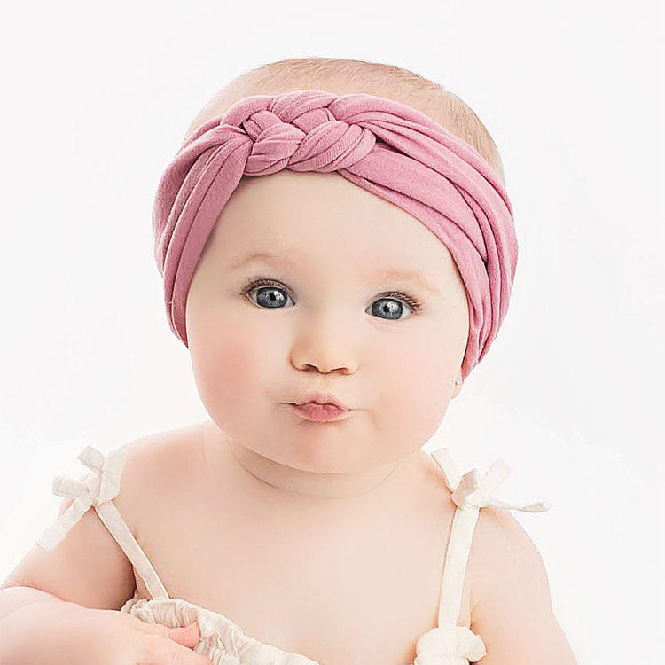 New Newborn Toddler Baby Girls Head Wrap Twisted Bow Knot Turban Headband Hair Accessories Baby Girls Nylon Headband