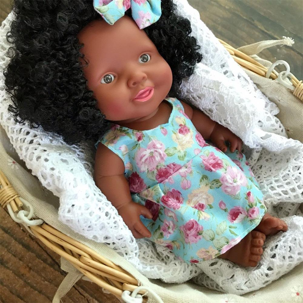 Baby Movable Joint African Doll Toy Black Doll Best Gift Toy Christmas Gift Playmate Boneca menina Baby Dolls Toys for Girls