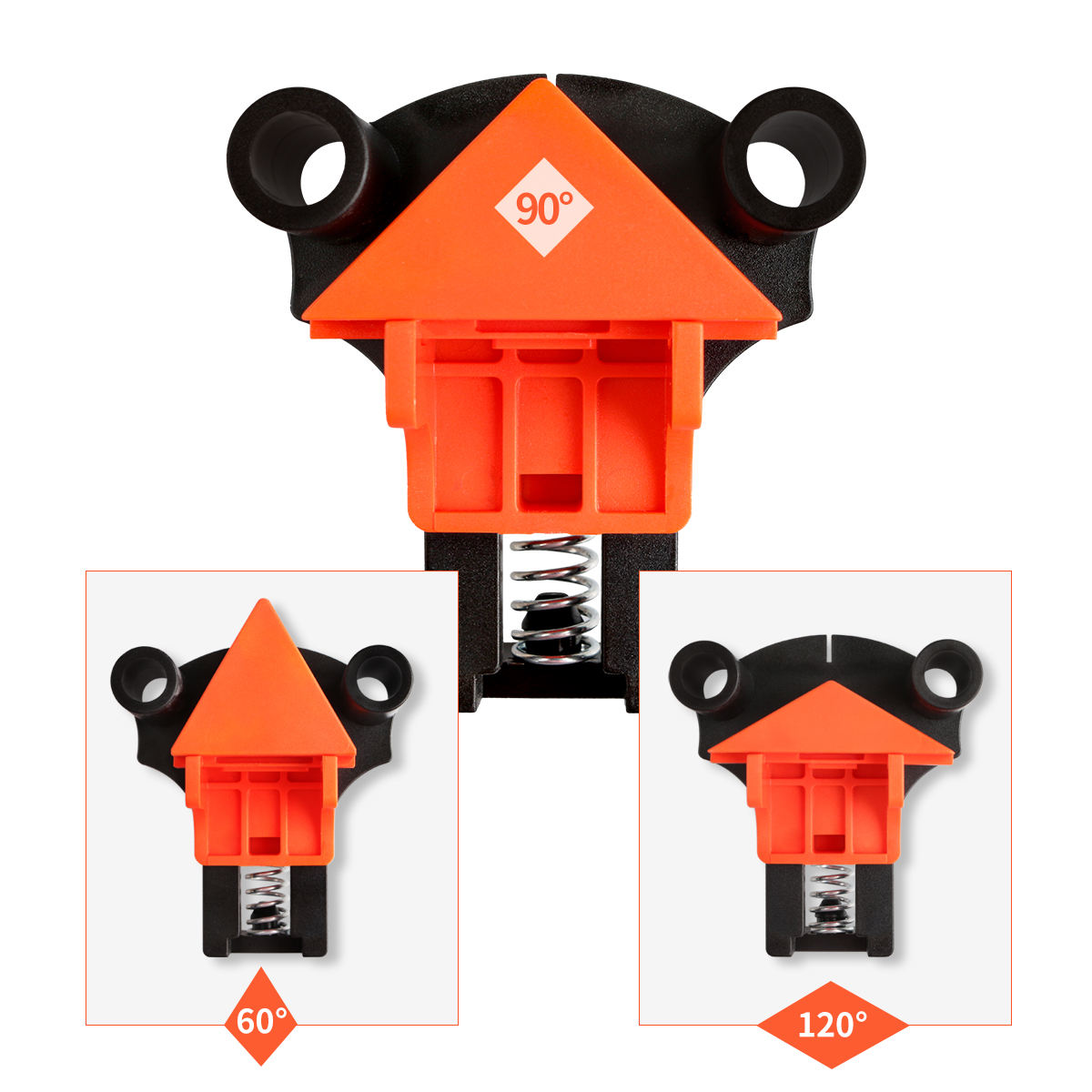 4 pcs 60/90/120 Degree Right Angle Wood Box Clamp Set Right Angle Clamp Fixing Clips Picture Frame Corner Clamp Woodworking