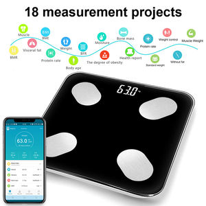 Tuya smart life Bluetooth digital electronic LED display body fat BMI Amazon hot scale