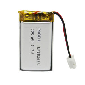 Small size of Lipo battery lp552035 350mah 3.7v led lamp