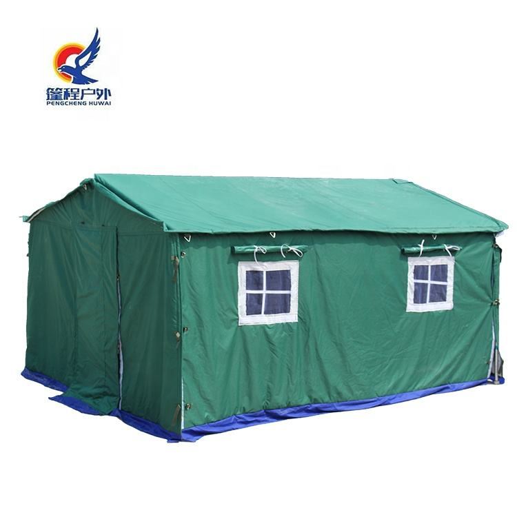 Large green waterproof canvas tent big army tent