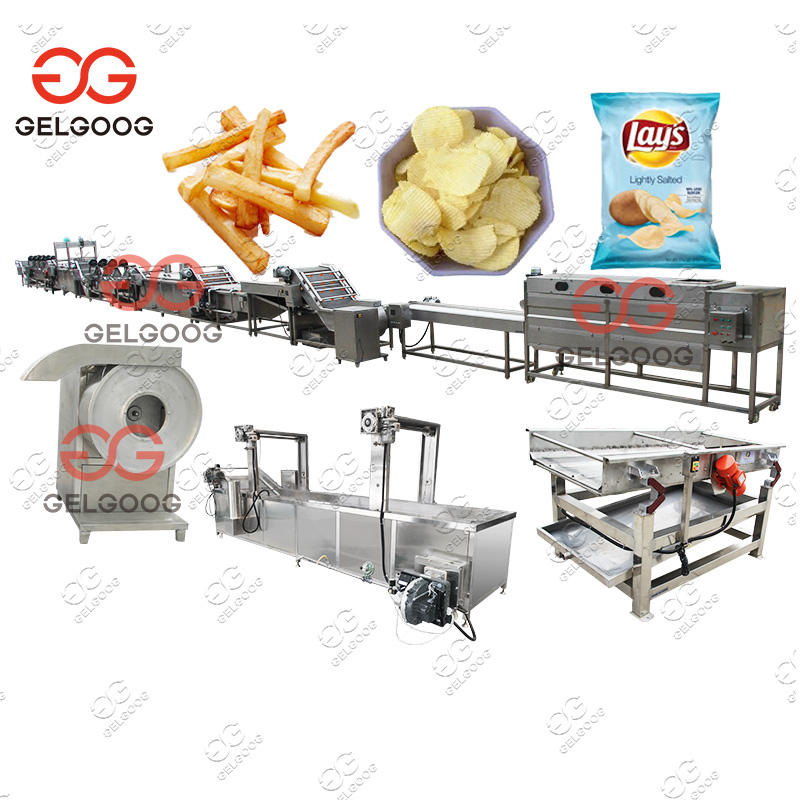 Best Quality High Speed Frozen French Fries Produce Line Automatic Potato Chips Making Machine Price