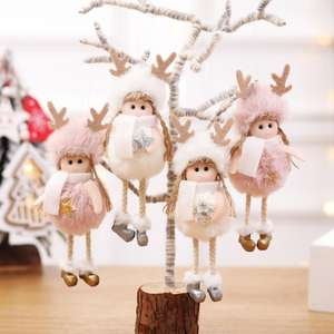 2020 New Year Gift Cute Christmas Angel Doll Xmas Tree Ornament Noel Deco Christmas Decoration for Home Natal Navidad