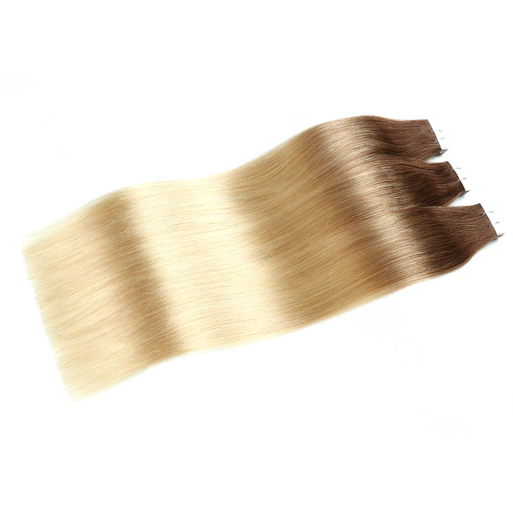 10A Straight Human Tape Hair Extensions Cheap Brazilian Remy Tape In Hair Extensions Pu Skin Weft Hair