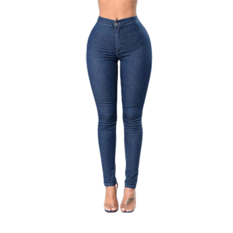 Wholesale Fashion Sexy Small Jeans Women's Denim Female Blue Trousers