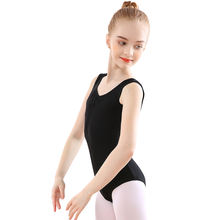 Bezioner Black Sleeveless Leotard Gymnastics Classic Ballet Leotard For Kids