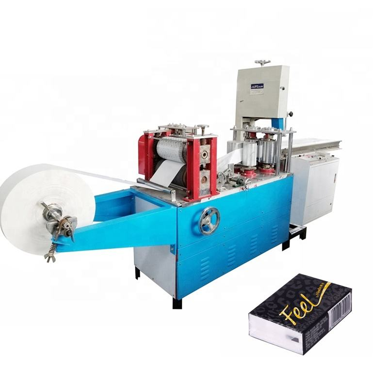 Competitive price 1/6 interfolded paper napkin making machine to produce serviette square tissue