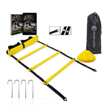Custom Fitness Equipment Exercises Sports Speed Training Agility Ladder and Cones Set