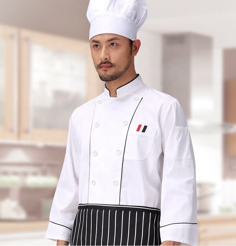 Custom white chef jacket coat clothing for men and women