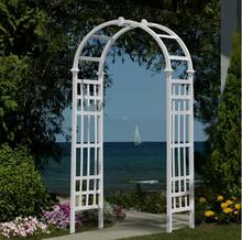Fentech New design white vinyl arbor garden, wedding garden arbor