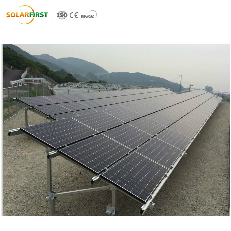 Ground Solar Energy Mounting Structures System with Ground Screw