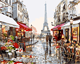 Tuoyun Paris Street DIY digital oil Painting on canvas with frame for sitting room wall decoration