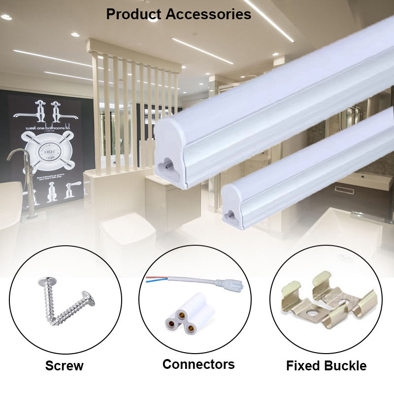 T5 Led Integrated Tube Light 1ft 2ft LED Fluorescent Tube Wall Lamp Bulb Light