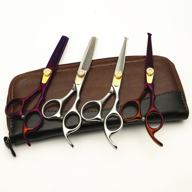 Multi Color Hair Cutting Salon Barber Thinning Hairdressing Barber Scissors