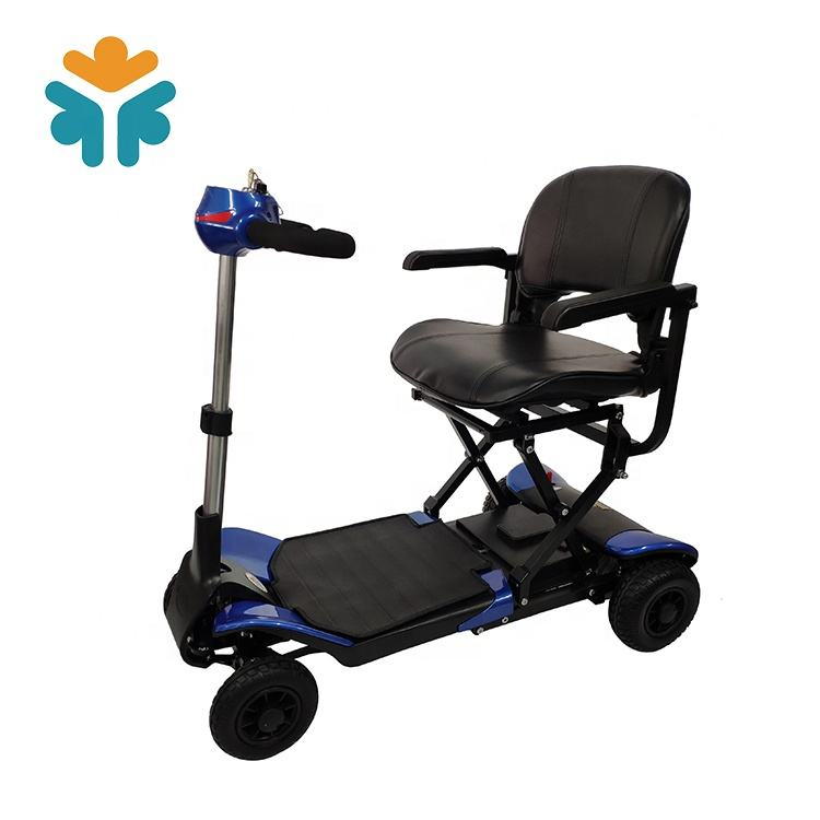 Automatically remote control Folding Lightweight four wheel disabled Transformer Folding electric mobility scooter