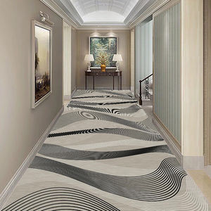 Fire Resistance Custom Wall To Wall Hotel Corridor Hallway Carpet
