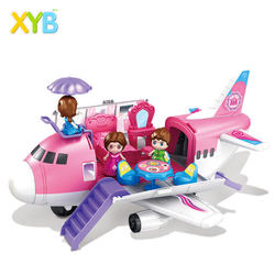 XYB Hot Selling Wholesale Christmas Other Pretend Play Set Other Storage Toys Wholesale Toys Kids Airplane Play Set