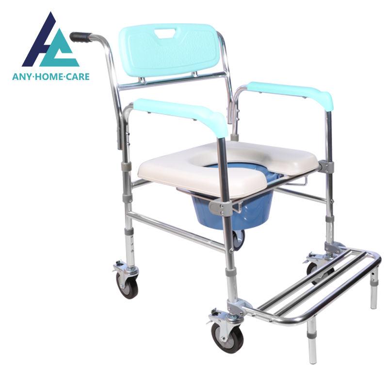 Barato fácil baño silla para ancianos silla con orinal con el apoyo sanitario con reposabrazos