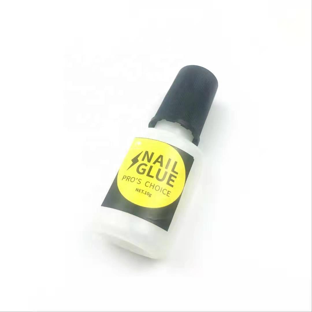 Private Label Nail Glue Brush On Bottle For Artificial Fingernail DIY Nail Glue