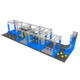 New Style Large Commercial Exercise Equipment Indoor Ninja Warrior Course for both kids and adults