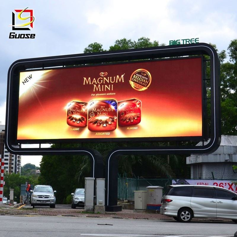 LED TV screen structure billboard outdoor advertising