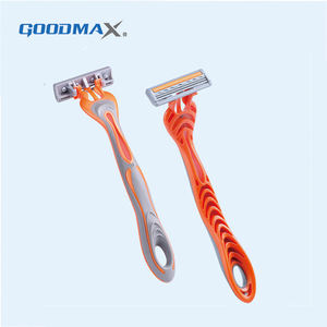 High quality green color three blade disposable razor