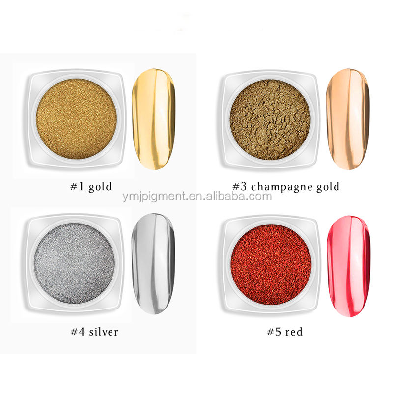 Hot Sale Nail Art Titanium Holographic Glitter Powder Chrome Nail Mirror Powder