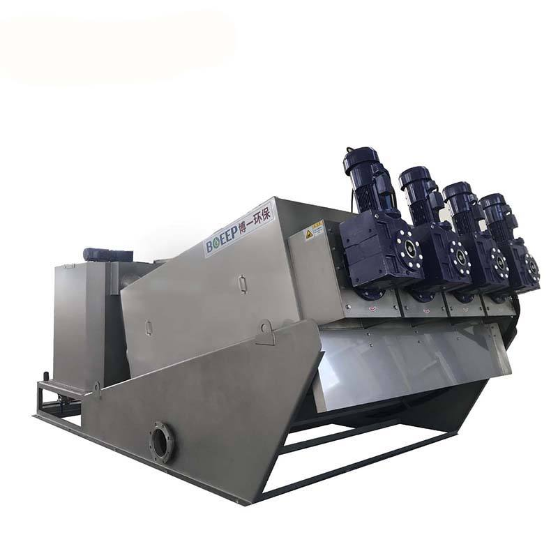 small vacuum stainless steel mechanical wastewater volute type press machine manufacturers