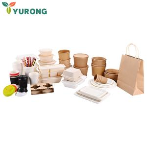 Cornstarch Compostable Plates Tableware Sets Disposable Biodegradable Dinnerware