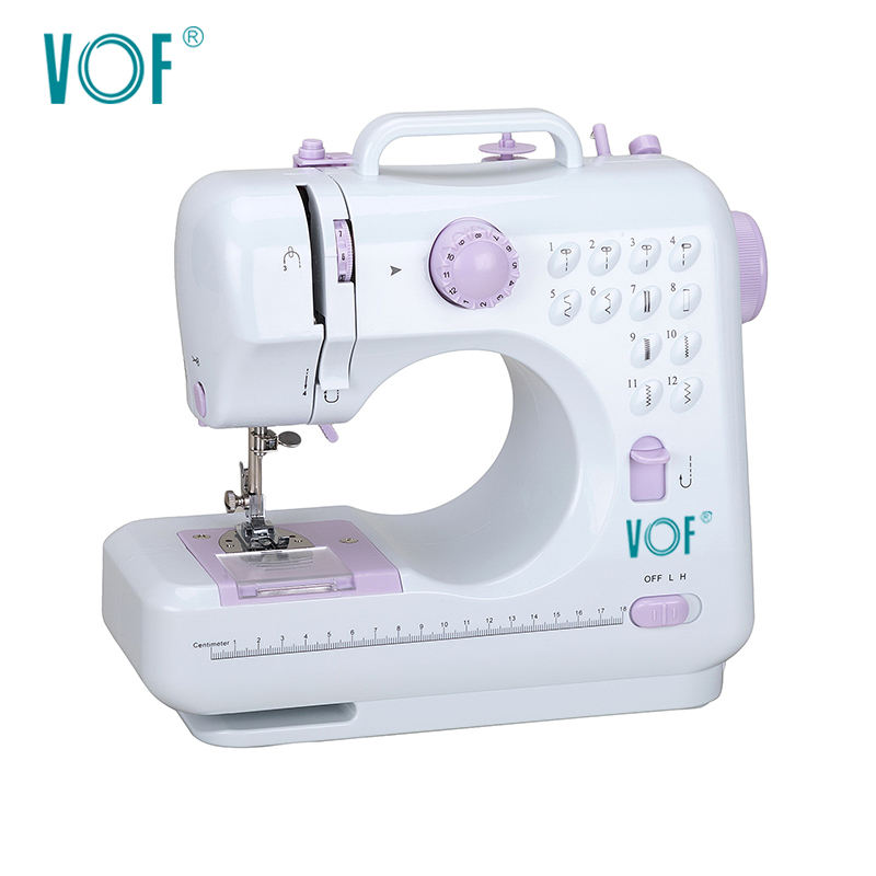 FHSM-505 China Brand Multifunction Household Leather Stitching Tailoring Buttonhole Mini Electric Sewing Machine for Cloth