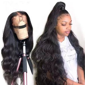 Ms Mary Wholesale 180% Density Pre Plucked Body Wave Raw Indian Hair Unprocessed Lace Front Wig