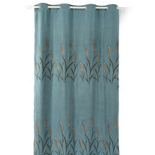 Good High Fabric Tropical Plants Embroidery Ready Made Window Curtains