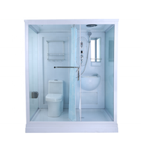 New arrival of combo function rectangle portable shower and toilet cabin