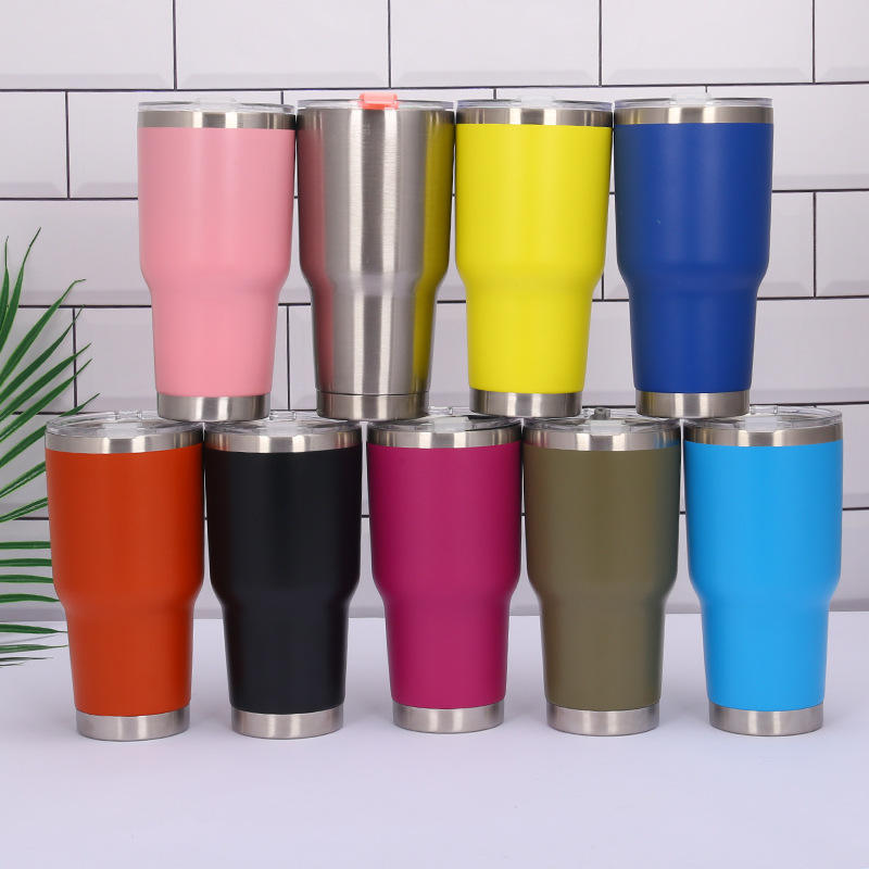 Wholesale Custom stainless steel tumbler double wall Vacuum Insulated Glitter Powder 30 oz stainless steel tumbler cups