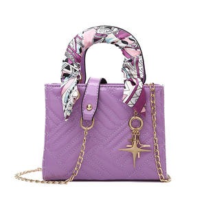 2020 Summer Fashion Princess Bag Painted Embroidery Texture Crossbody Bag With Scarf