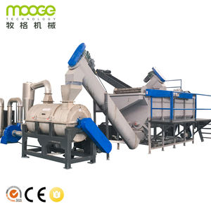 Low cost pet bottle recycling line for bottle washing