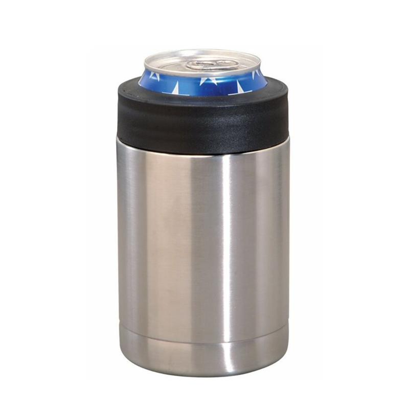 12oz Customized Double Wall Stainless Steel Insulated Vacuum Cooler Warmer Cola Beer Can Container
