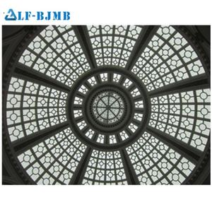 Xuzhou LF Prefab light steel daylight nature lighting building clear glass roof dome skylight