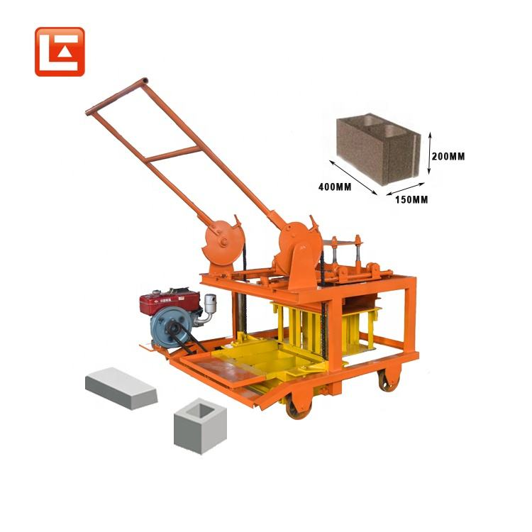 QM4-45 hollow china fly ash egg laying block brick machine with diesel engine cement block making machines china