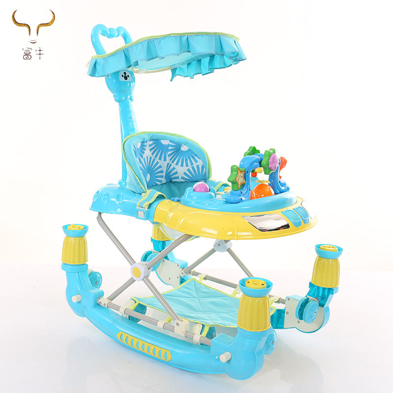 Baby walking seat belt designer baby walker rocker for young kids for sale/tube baby walker with push handle/ baby walker rocker