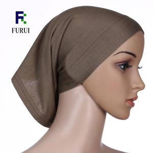 Custom jersey cap inner hijab caps high quality stretchy bonnets hijab caps
