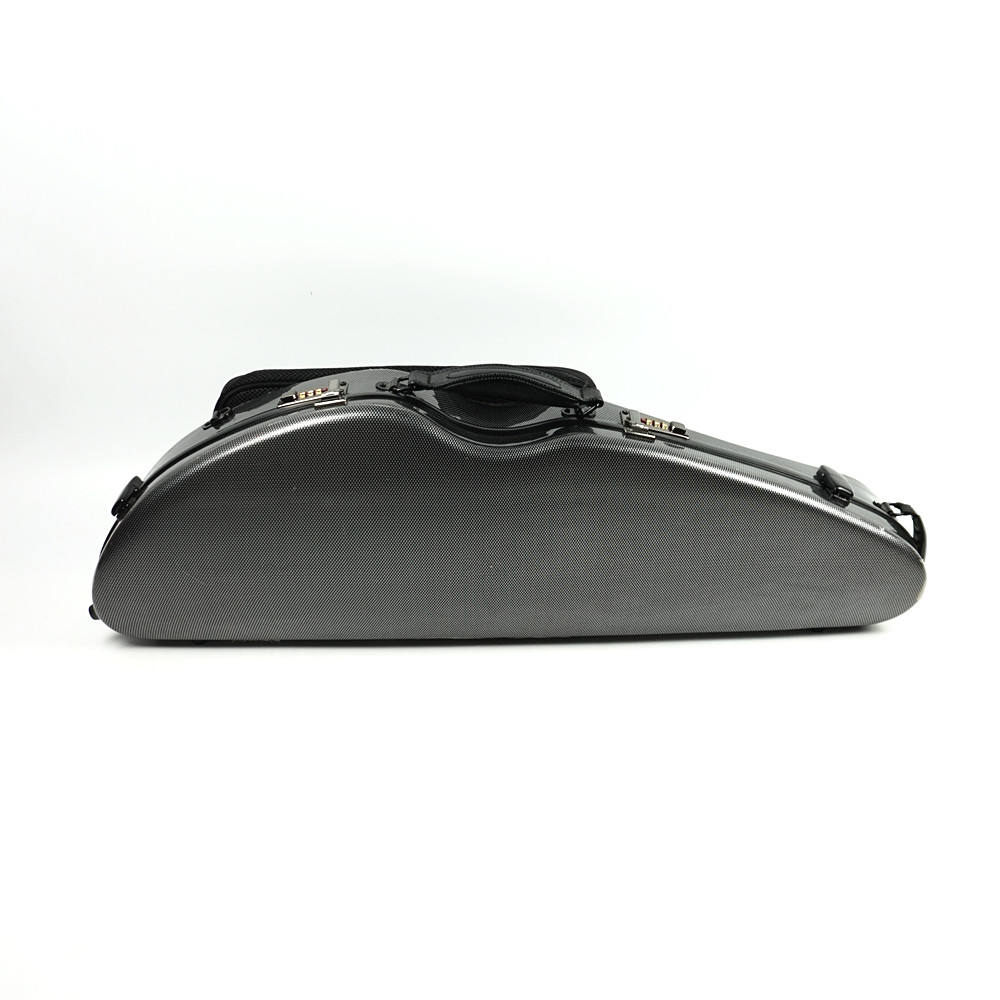 violin case 4/4 with music sheet bag coded lock carbon fiber violin case carbon fiber VGM-01