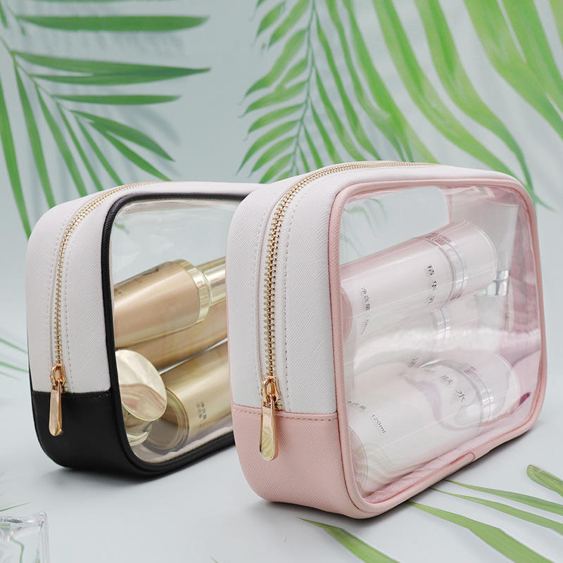 clear plastic pvc cosmetic travel makeup bag