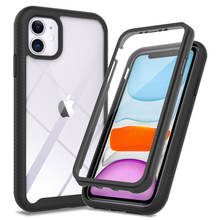 Tough Defender Phone Case For iPhone 11 TPU PC 2 in 1 Hybrid Transparent Hard Clear Shockproof Cover 360 Protection