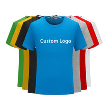 AI-MICH Custom Logo Printed Embroidered Mens Plain Tshirts 100% Cotton